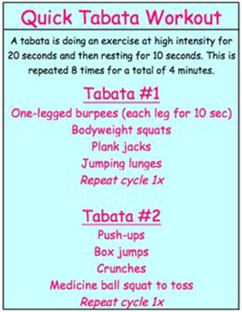 1000 images about tabata workouts on tabata
