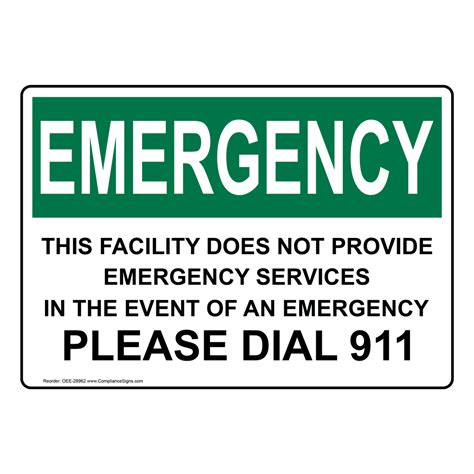 Emergency Contact Detox Facility by Osha This Facility Does Not Provide Emergency Sign Oee 28962