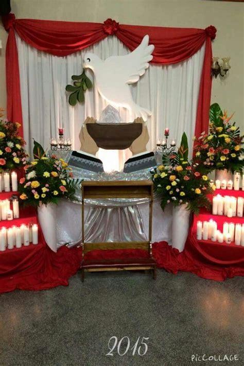 arreglo del templo para la celebracion de unm 1000 ideas about arreglos florales para iglesia on