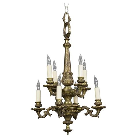 1940s Chandelier Small 1940s Bronze Chandelier With Eight Lights For Sale At 1stdibs