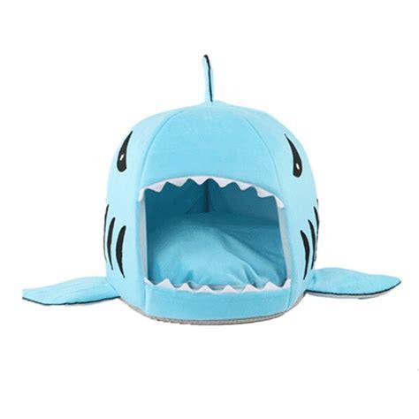 dog shark bed dog supplies pet bed puppy shark shape cushion dog house cat kennel warm pet cad