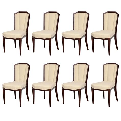 art deco dining suite at 1stdibs graceful suite of 8 art deco dining chairs at 1stdibs