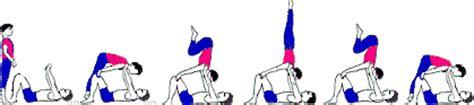Bildreihe  Animation Schulterstand