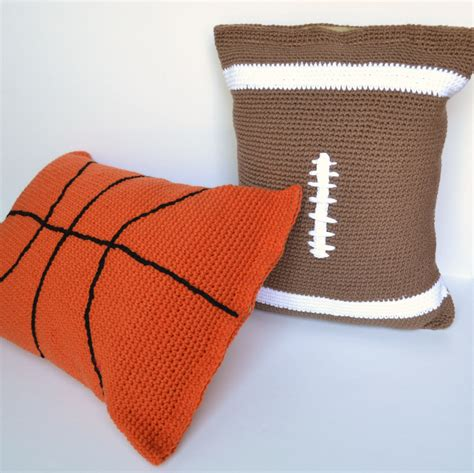 pillow casses pillow crochet pattern football pillow basketball