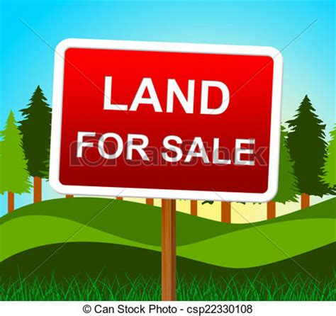 house with land for sale stock illustration of land for sale means real estate agent and house land for