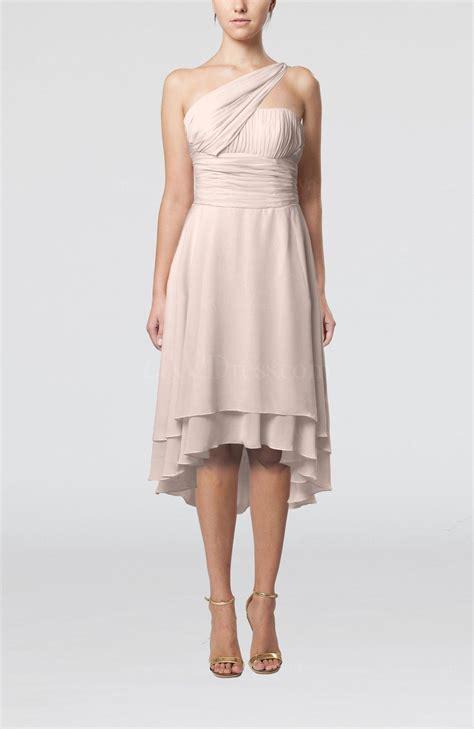 light pink plain  shoulder sleeveless  lo ruching