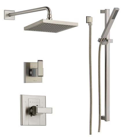 Kitchen Faucets Moen faucet com dss arzo 1401ss in brilliance stainless by delta