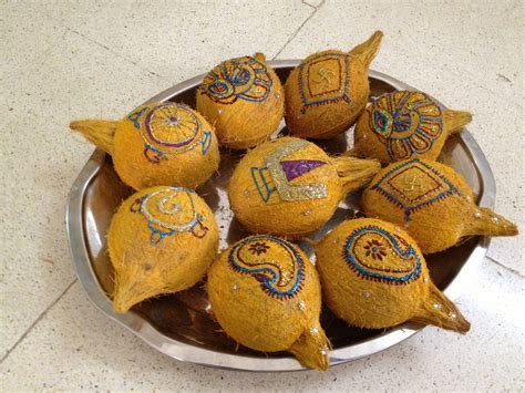 Decorated coconut thambulam   Indian Festivals   Wedding