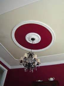 Design Ideas For Galvanized Ceiling Fan Faux Tray Ceiling Ceiling Medallion Crown Molding Paint Dining Room Design