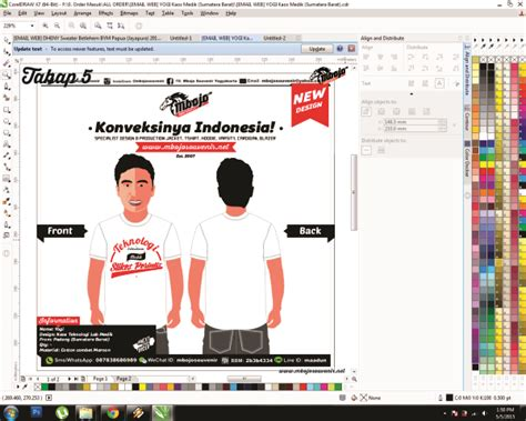 desain kaos online via hp cara paling mudah desain kaos online pasti bisa
