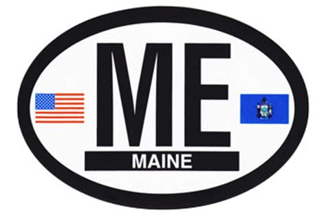 buy maine oval decal flagline