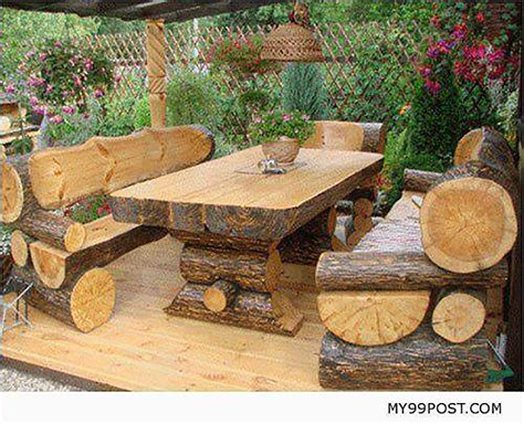 outdoor log furniture 10 gorgeously rustic log tables you ll want for your cabin grid world