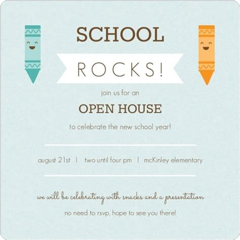 Mba School Open Houses by Blue And Orange Crayons Open House Invitation Back To