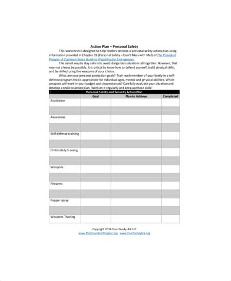 personal safety plan template 11 sle personal plans sle templates