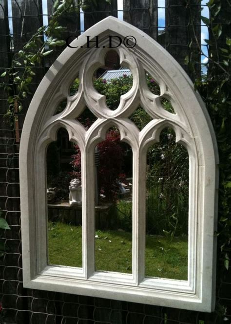 Arched Church Windows Inspiration Arched Mirror Church Window Wall Outdoor Garden Decor 85cm Gardens Arches And
