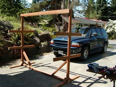 canoe rack for boat build kayak storage rack building an outdoor boat rack