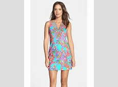 Lilly pulitzer 'gabby' Embellished Print Cotton Shift ... Lilly Pulitzer Dresses Dillards