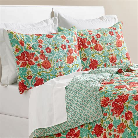 aqua and coral bedding coral and turquoise floral camille bedding collection
