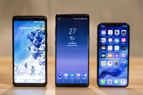 iphone x vs note 8 pixel 2 and v30 is a surprisingly lopsided affair