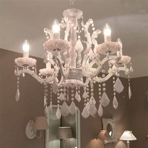 White Acrylic Chandelier Gloss Acrylic White Chandelier Large By Cowshed Interiors Notonthehighstreet