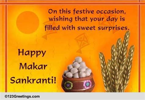 filled  sweet surprises  makar sankranti ecards