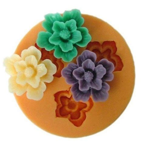 Silicone Mold Flower F0049 Silicone Resin Flower Mold Chocolate Soap Handmade
