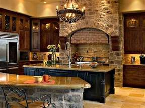 Stone Kitchens Design by Old World Kitchen Ideas With Traditional Design Home