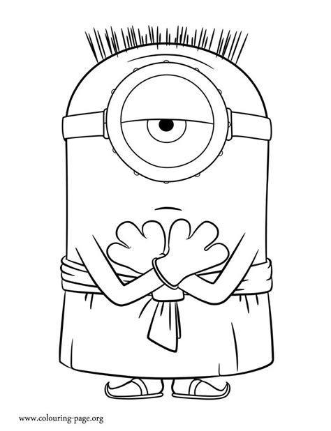 coloring pages minion stuart enjoy with this free minions movie coloring page in this