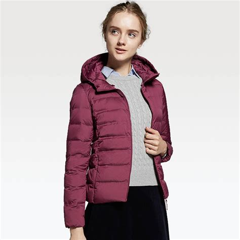 uniqlo ultra light parka lyst uniqlo ultra light seamless parka in purple