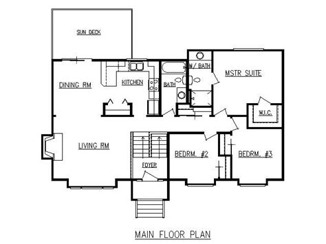 Split Level Floor Plan by Design Lines Inc Plan 1728 Split Level