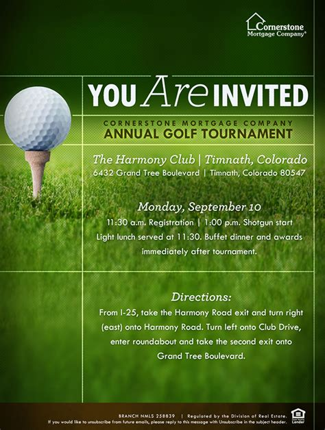 Golf Tournament Flyer Template Hunecompany Com Golf Tournament Invitation Template Free