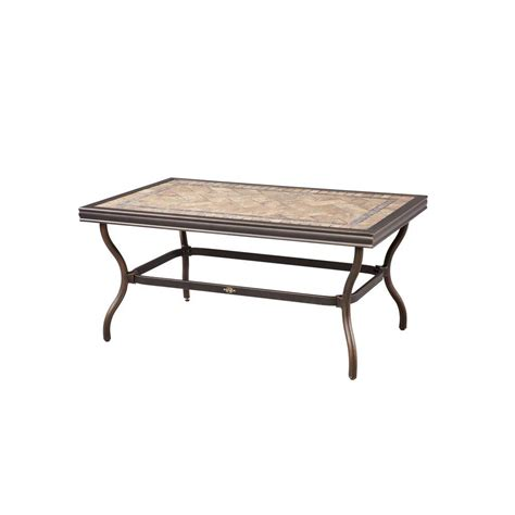 Tile Top Patio Table Hton Bay Westbury Tile Top Patio Coffee Table Akq14517k02 The Home Depot