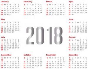 Calendario 2018 Png 2018 Transparent Calendar Png Clip Image Gallery