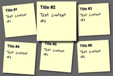 html tutorial notes create a sticky note effect in 5 easy steps with css3 and