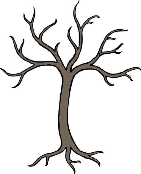 dead tree coloring page bare dead tree clip art at clker com vector clip art