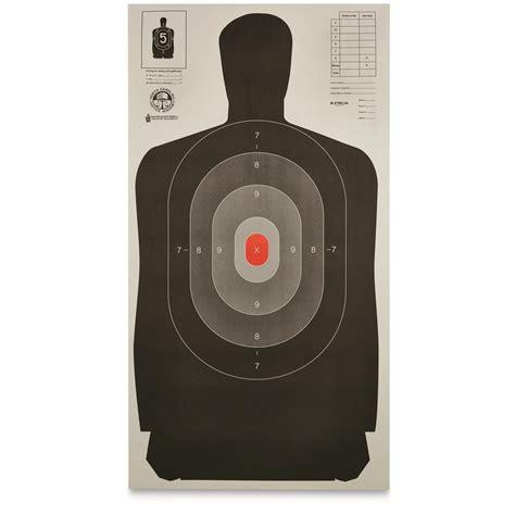 printable law enforcement shooting targets law enforcement silhouette b 27 targets 50 pack 21001
