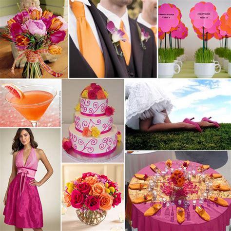 wedding colours fuschia and orange primadonna