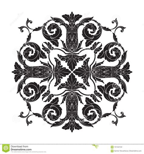 decorative baroque design elements vector classical baroque ornament vector stock vector image