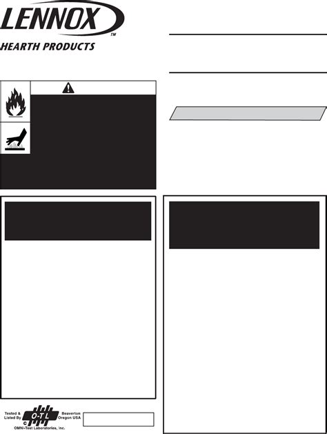 Lennox Hearth Indoor Fireplace Lmdtv 3328cnm User Guide Lennox Fireplace Manual
