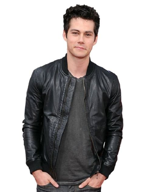american actor dylan obrien classic leather jacket
