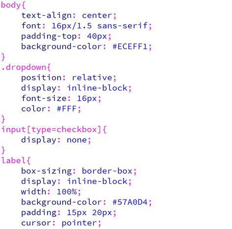 script css membuat menu dropdown membuat dropdown menggunakan checkbox kursus web design