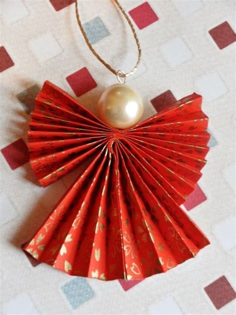 Origami Tree Decorations - origami ornament in and gold simple