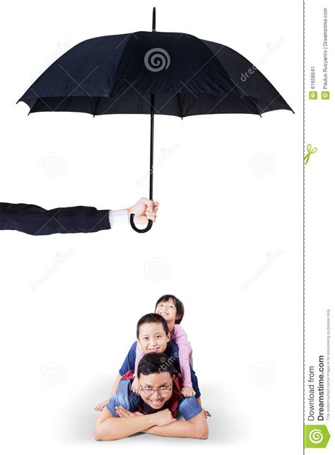 or shine my fathers umbrella how are fathers children and lying in studio umbrella stock