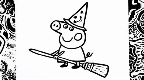 dibujos para pintar pepa como dibujar a peppa halloween how to draw peppa pig
