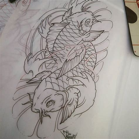 tattoo koi drawing koi fish drawing on instagram