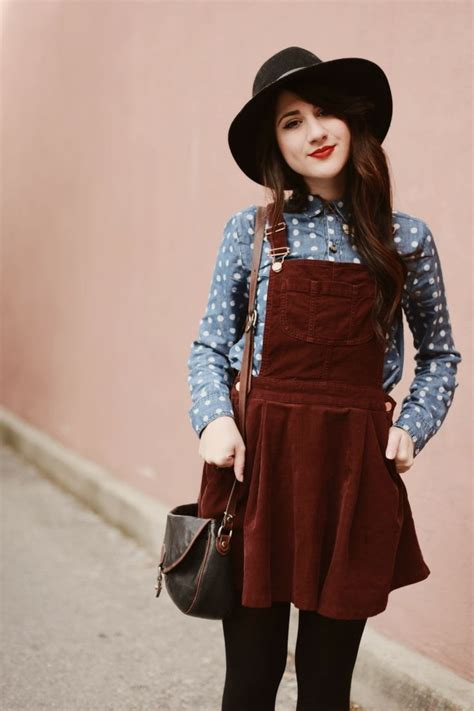 Corduroy Jumper Skirt how to wear overalls 2018 fashiontasty