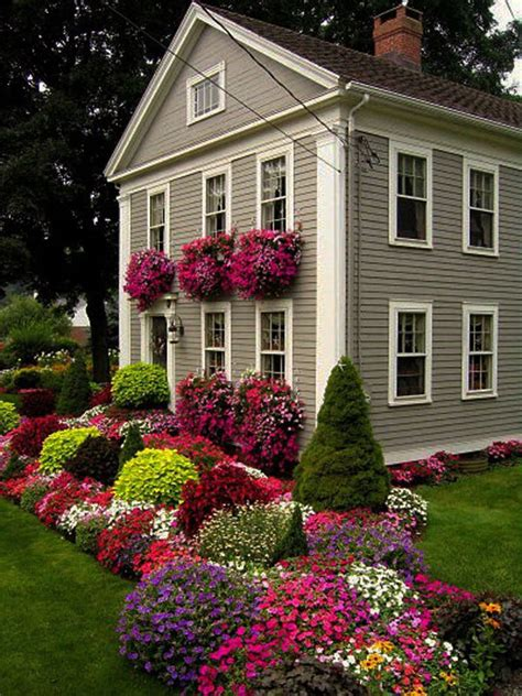 Landscaping ideas for front of two story house