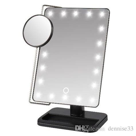 makeup mirror stand with lights led makeup mirror led up mirror stand up for desk