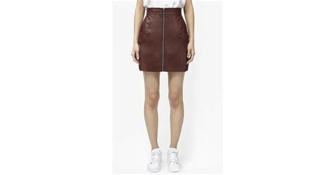 connection atlantic faux leather mini skirt in