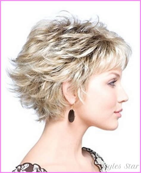 short hair cust with puffy topack short medium length layered haircuts stylesstar com